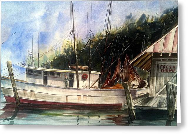 Fresh Shrimp Alabama Greeting Card by Don F  Bradford