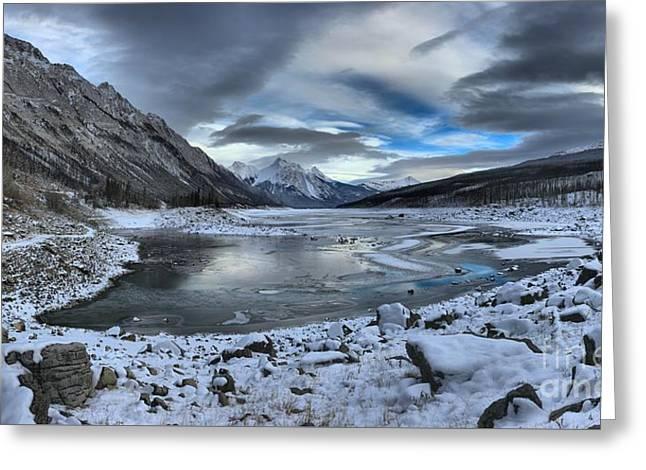 Fresh Snow At Medicine Lake Greeting Card