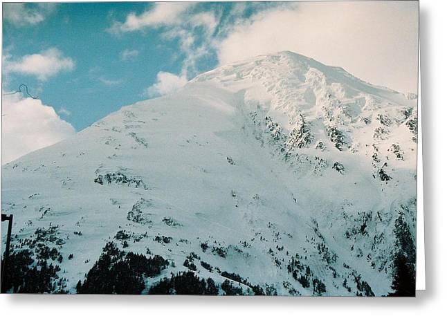 Greeting Card featuring the photograph Fresh Snow Peak by Judyann Matthews