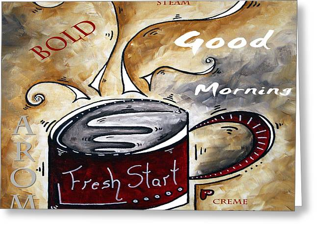 Fresh Start Original Painting Madart Greeting Card by Megan Duncanson