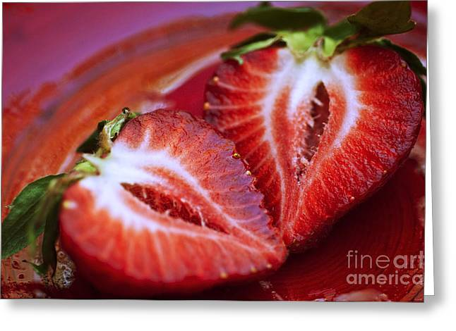 Fresh Strawberries Greeting Card by Ray Laskowitz - Printscapes