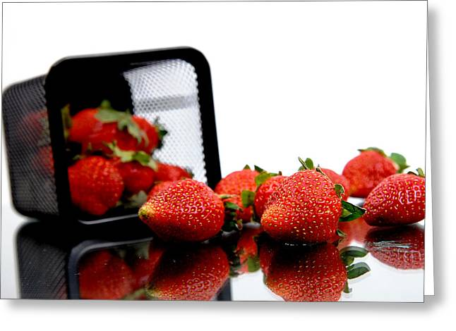Fresh Strawberry Greeting Card by Mas Farid