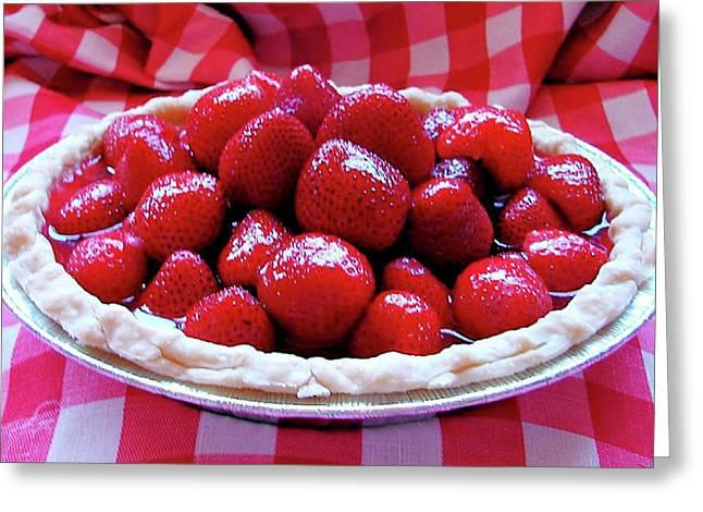 Fresh Strawberry Pie Greeting Card