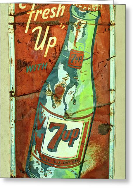 Fresh Up Seven Up Greeting Card by Douglas Settle
