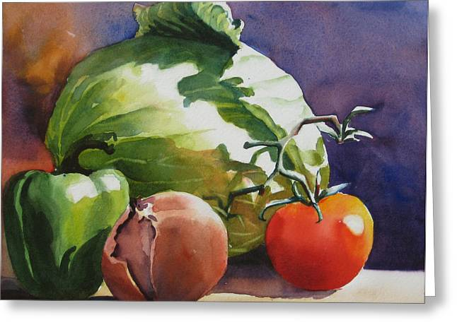 Fresh Vegetables Greeting Card by Sue Zimmermann