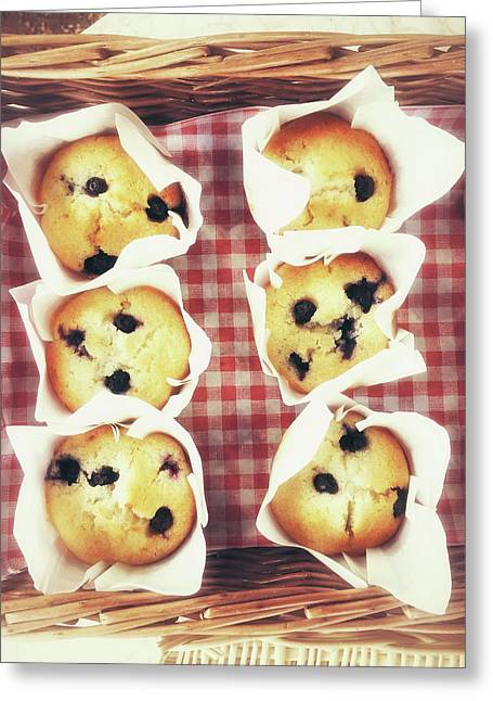 Freshly Baked Muffins Greeting Card by Tom Gowanlock