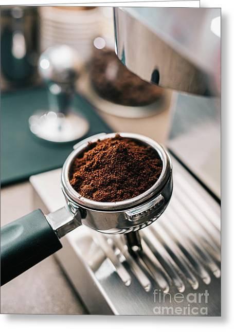 Freshly Ground Coffee Greeting Card
