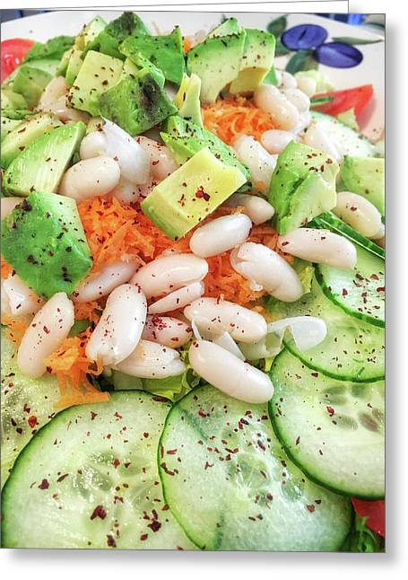 Freshly Made Salad Greeting Card