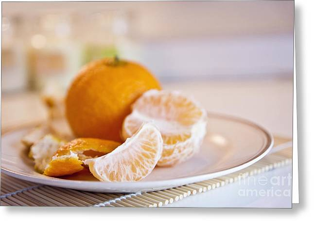 Greeting Card featuring the photograph Freshly Peeled Citrus by Cindy Garber Iverson