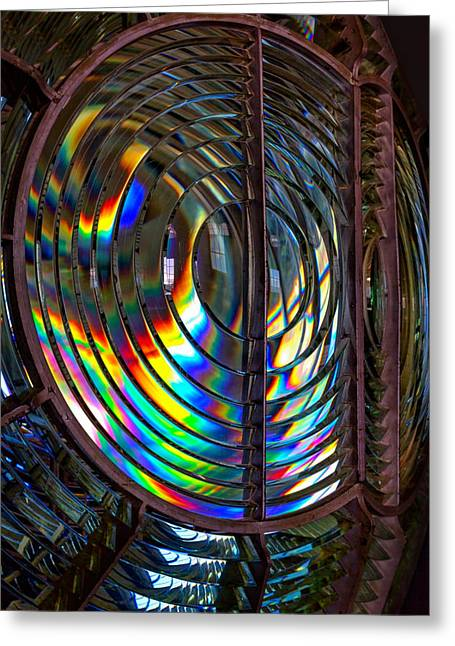 Fresnel Lens Point Arena Lighthouse Greeting Card