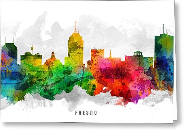 Fresno California Cityscape 12 Greeting Card