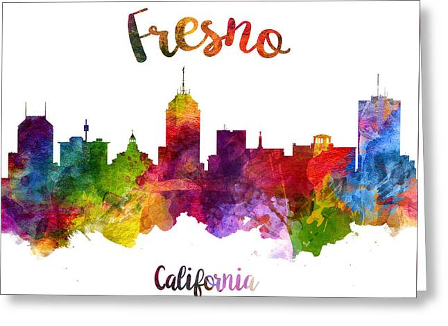 Fresno California Skyline 23 Greeting Card