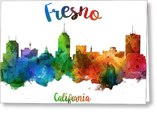 Fresno California Skyline 25 Greeting Card