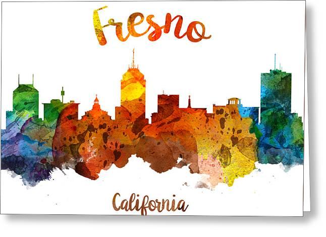 Fresno California Skyline 26 Greeting Card