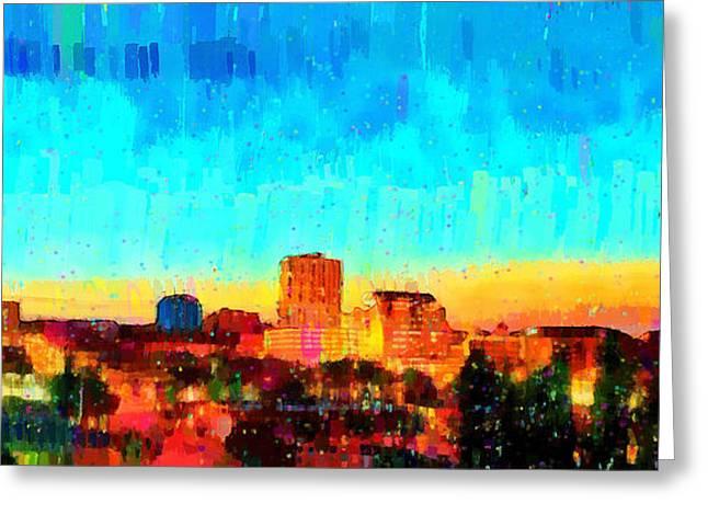 Fresno Skyline 100 - Da Greeting Card