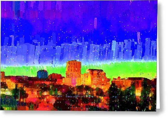 Fresno Skyline 102 - Da Greeting Card