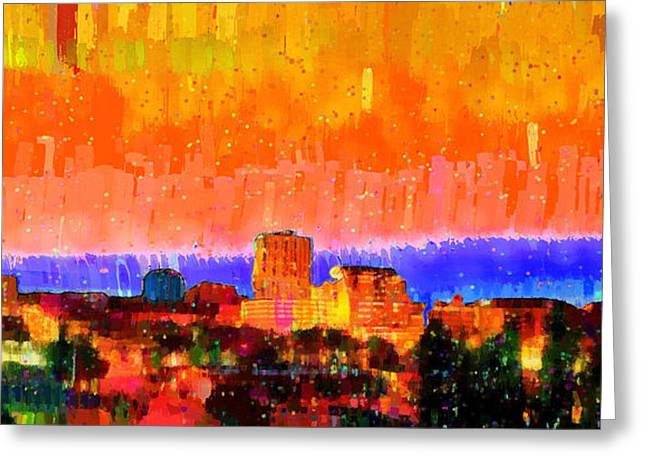 Fresno Skyline 105 - Pa Greeting Card