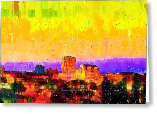 Fresno Skyline 106 - Da Greeting Card