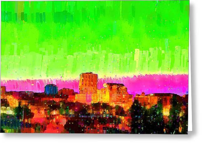 Fresno Skyline 107 - Pa Greeting Card