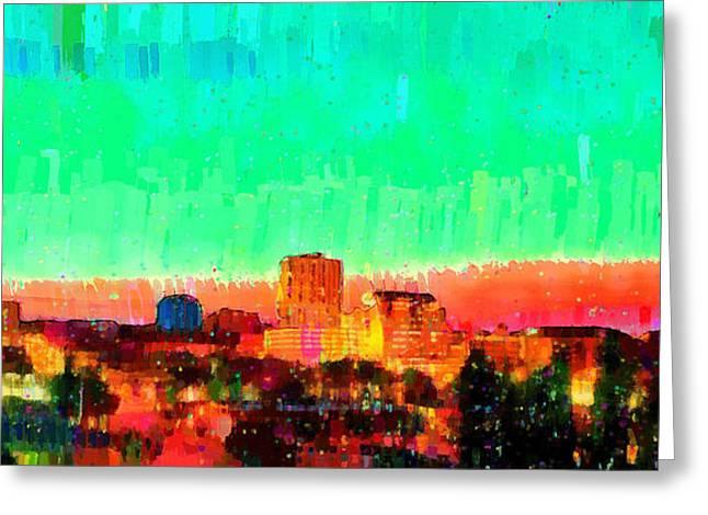 Fresno Skyline 108 - Da Greeting Card