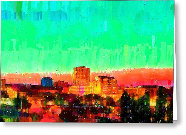 Fresno Skyline 108 - Pa Greeting Card
