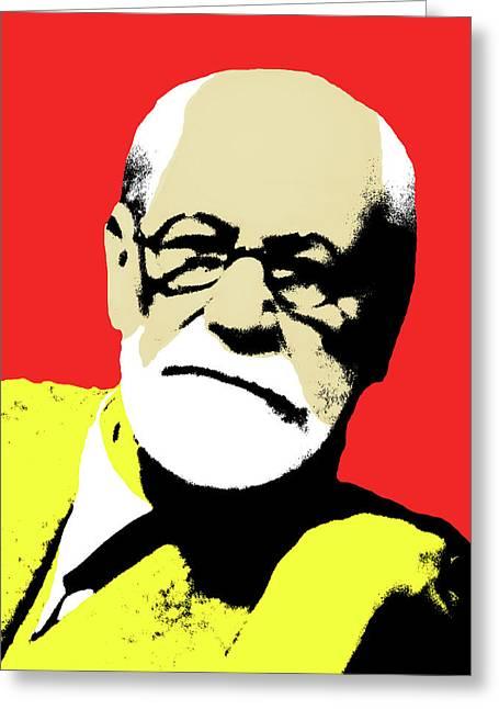 Freud Pop Art Greeting Card