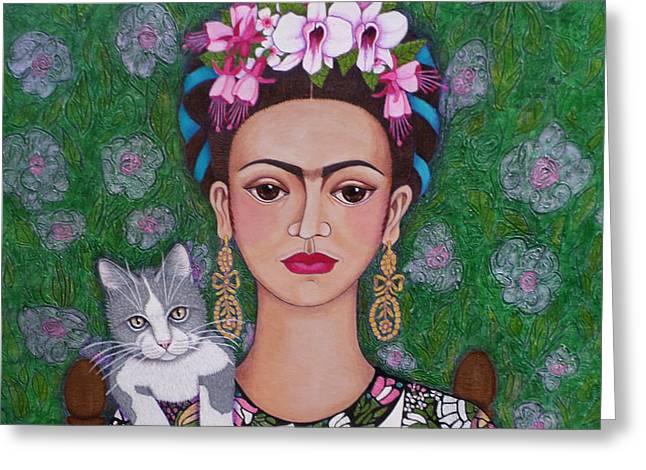 Frida Cat Lover Closer Greeting Card