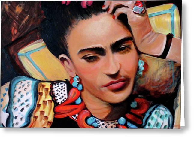 Frida Greeting Card by Jan VonBokel
