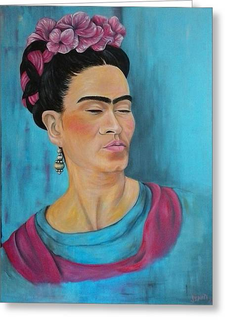 Frida Greeting Card by Jenny Pickens