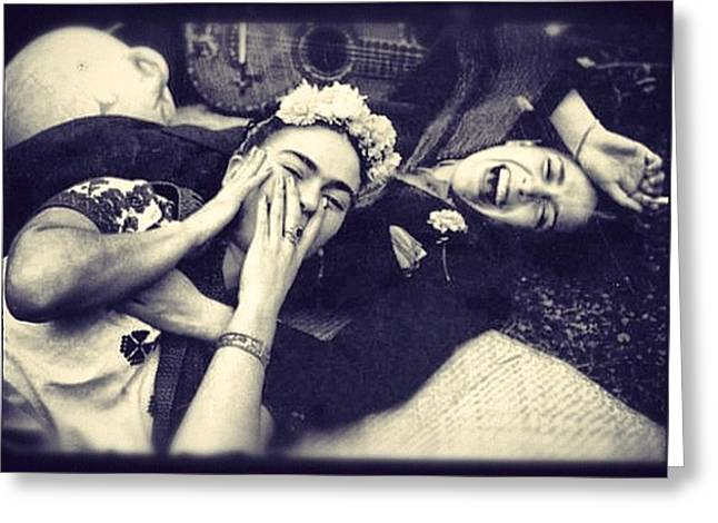 Frida Kahlo And  Chavel Vargas  Greeting Card