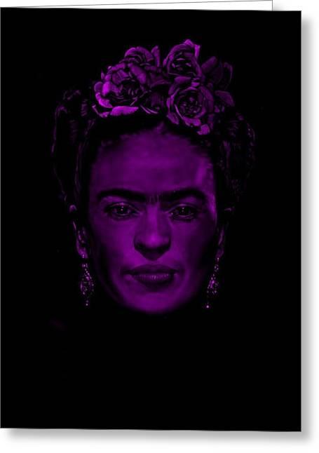 Frida Kahlo  Greeting Card by Brian Broadway