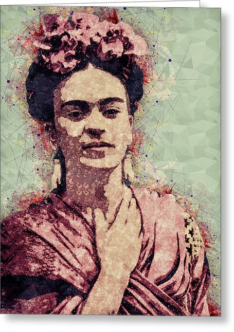 Frida Kahlo - Contemporary Style Portrait Greeting Card