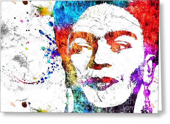 Frida Kahlo Grunge Greeting Card by Daniel Janda