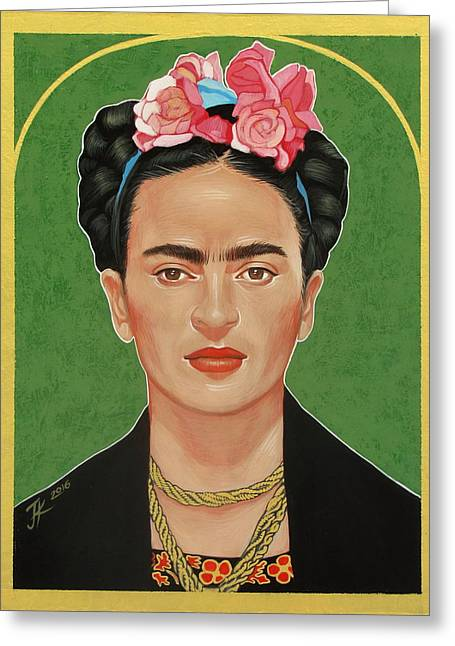 Frida Kahlo Greeting Card by Jovana Kolic