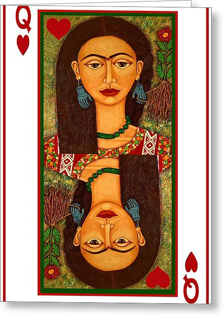 Frida Kahlo Queen Of Hearts Greeting Card