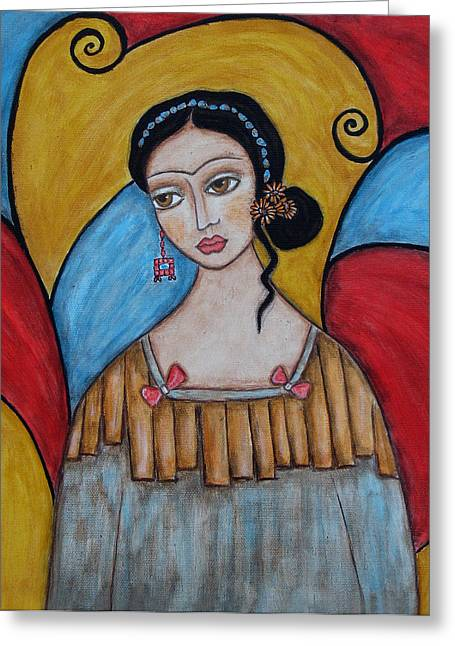 Mexican Art Greeting Cards - Frida kahlo Greeting Card by Rain Ririn