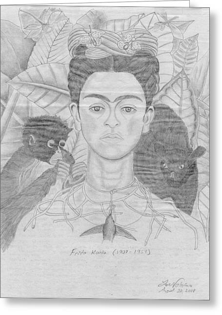 Frida Khalo Greeting Card