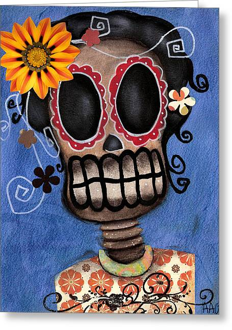 Frida Muerta Greeting Card by  Abril Andrade Griffith