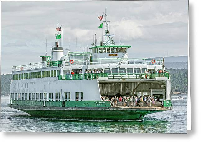 Friday Harbor Tillicum Ferry Greeting Card