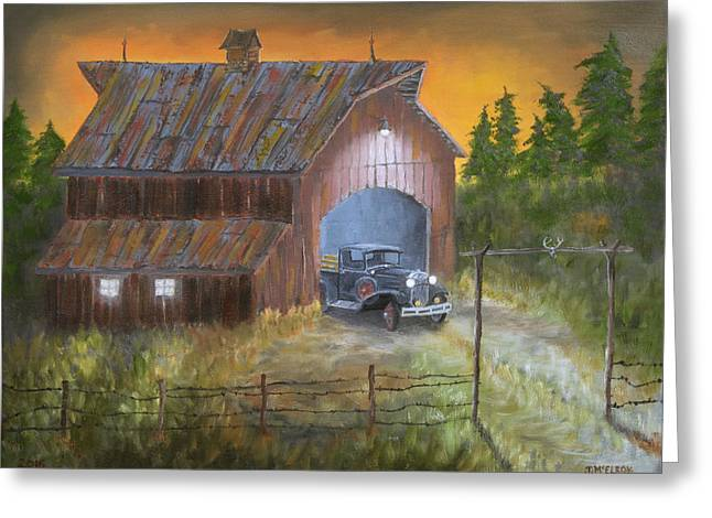 Friday Night Going To Town Greeting Card by Jerry McElroy