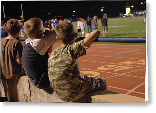 Greeting Card featuring the photograph Friday Night Lights by Karen Musick