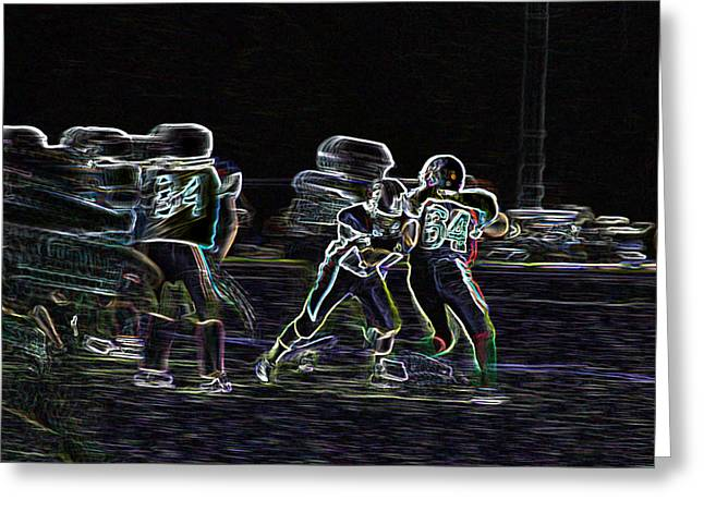 Friday Night Under The Lights Greeting Card