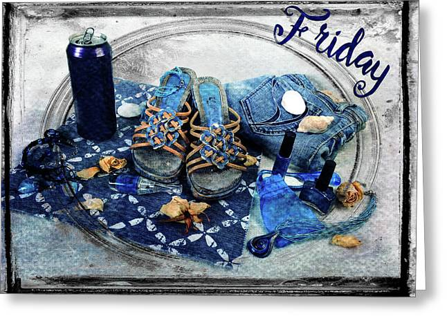 Friday Shoes Greeting Card