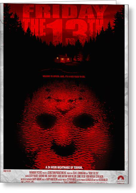 Friday The 13th Alternative Poster Greeting Card by Christopher Ables