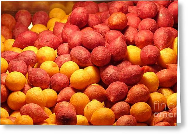 Greeting Card featuring the photograph Fried Sweet Potato Balls by Yali Shi
