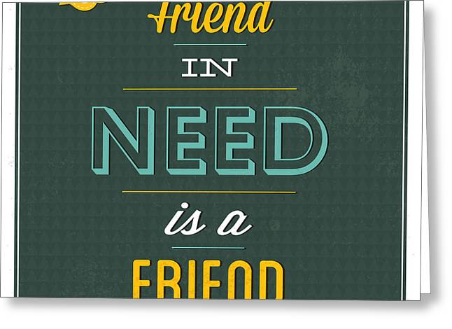 Friend Indeed Greeting Card by Naxart Studio