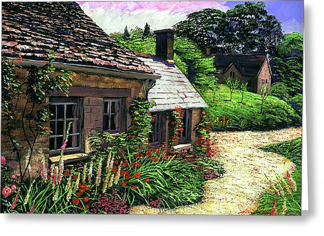 Friendly Cottage Greeting Card by David Lloyd Glover