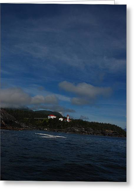 Friendly Cove From A Distance Greeting Card
