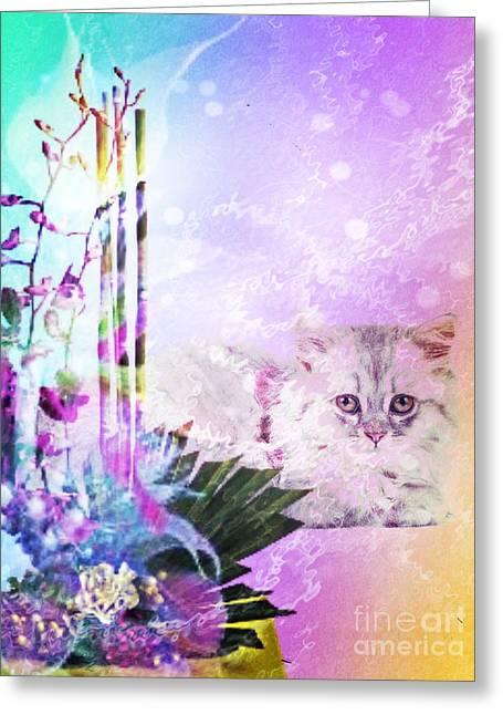 Friendly Feline Greeting Card