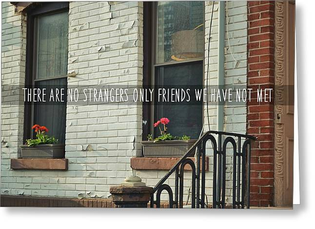 Friendly Hood Quote Greeting Card by JAMART Photography